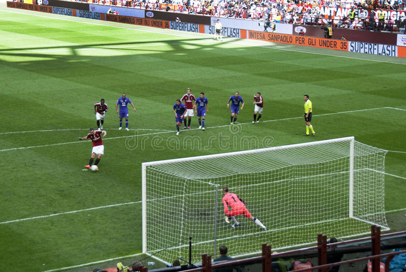 Soccer - the penalty kick stock photography