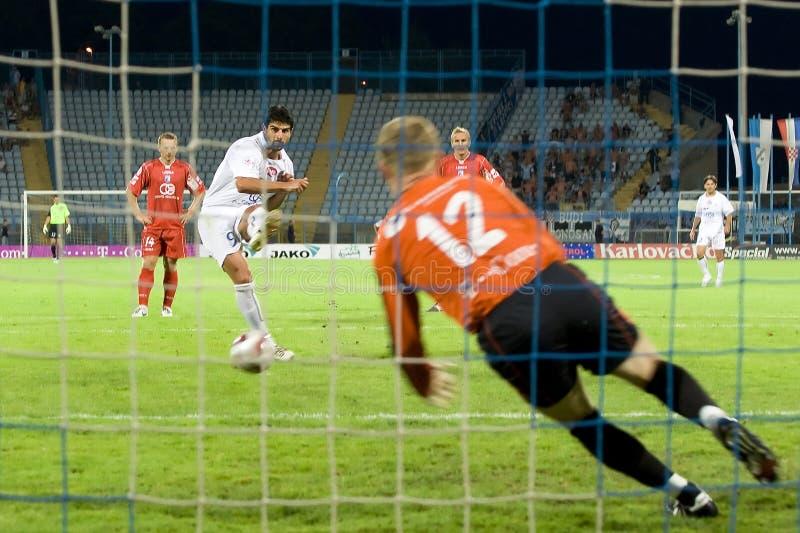 Soccer penalty kick stock photos