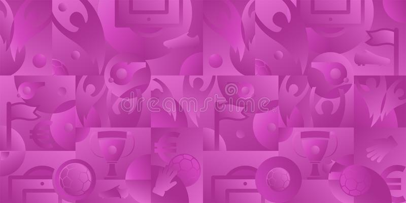 Soccer pink background, vector illustration royalty free illustration
