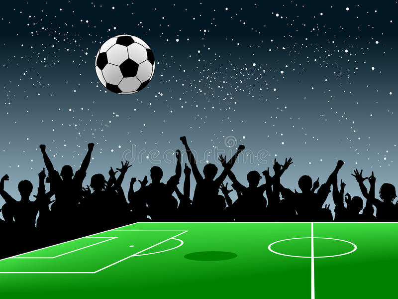 Download Soccer pitch stock vector. Image of game, moon, people - 13405046