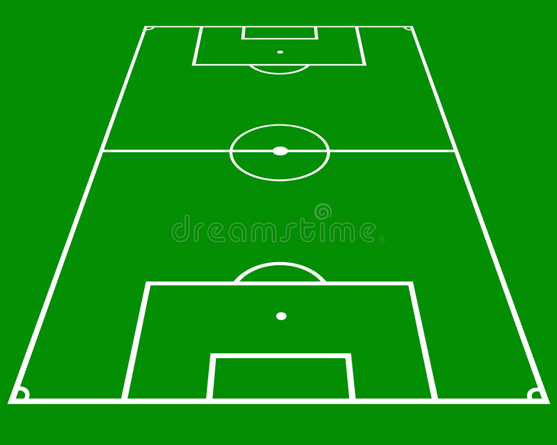 Soccer pitch stock illustration