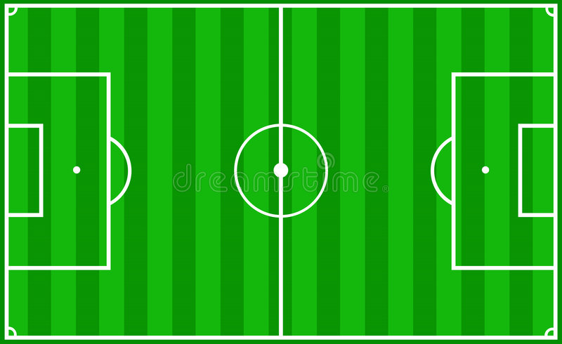Soccer pitch vector illustration