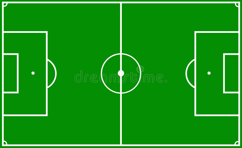 Soccer pitch royalty free illustration