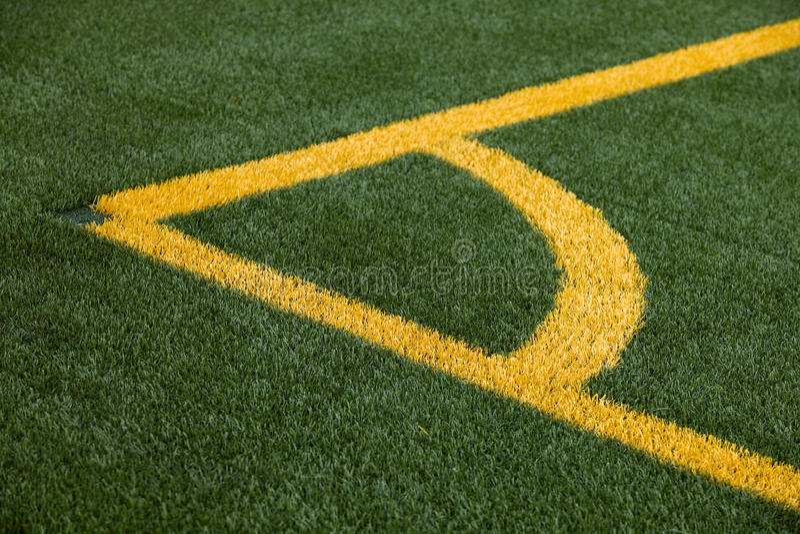 Soccer Pitch Corner Marking Stock Image