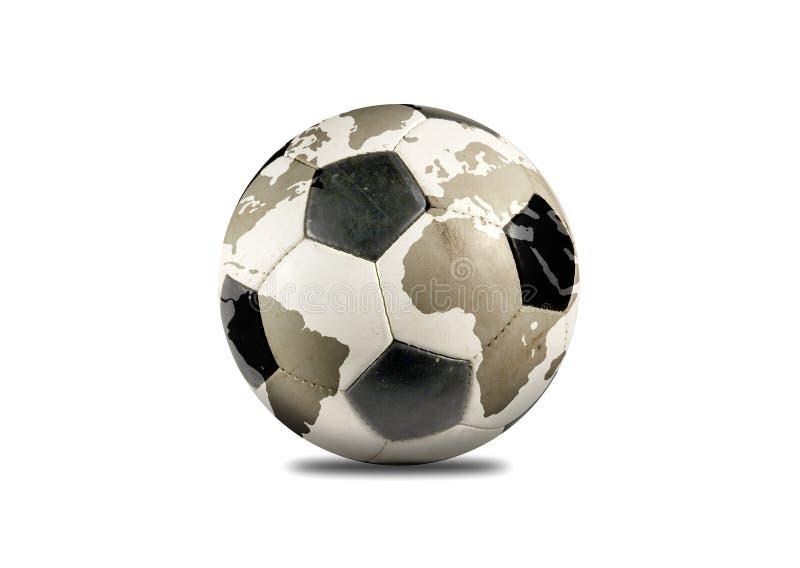 Soccer planet. Soccer (football) ball like planet Earth on white background stock illustration