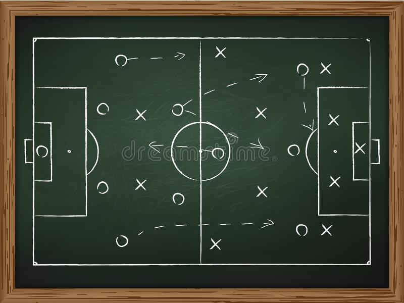 Soccer play tactics strategy stock illustration