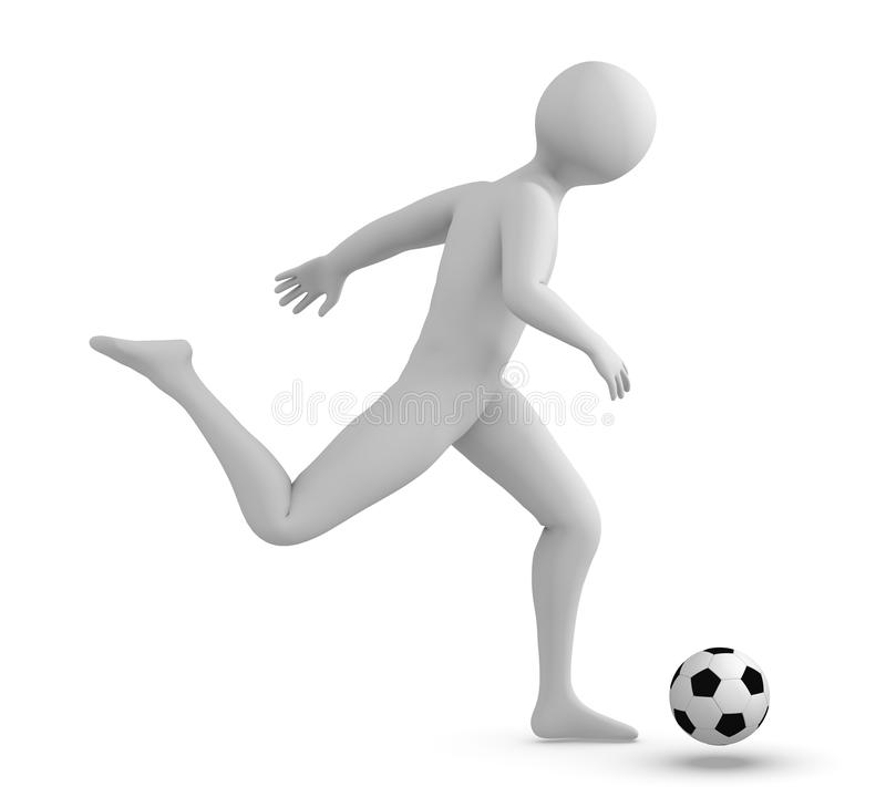 Download Soccer player stock illustration. Illustration of human - 25060627