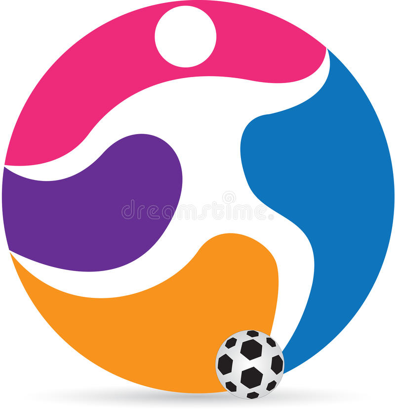 Soccer player royalty free illustration