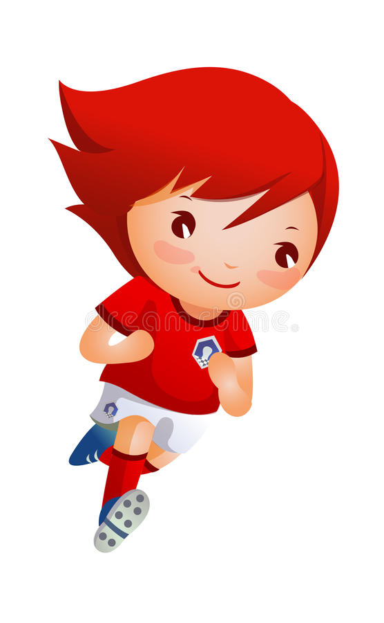 Download Soccer player stock vector. Illustration of front, graphics - 27047568