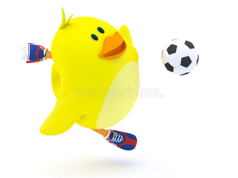 Soccer player stock illustration