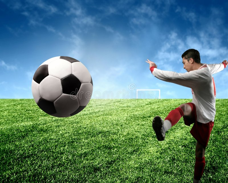 Download Soccer player stock image. Image of play, strong, player - 4409351