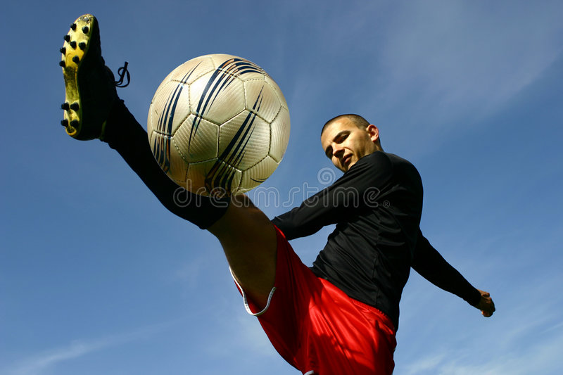 Soccer player #5 stock image