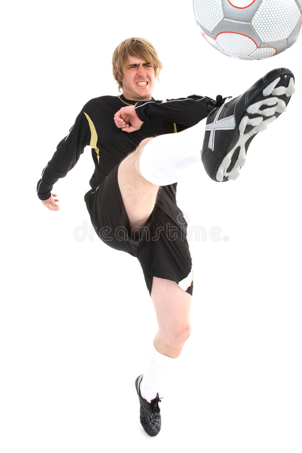 A Soccer Player Stock Image