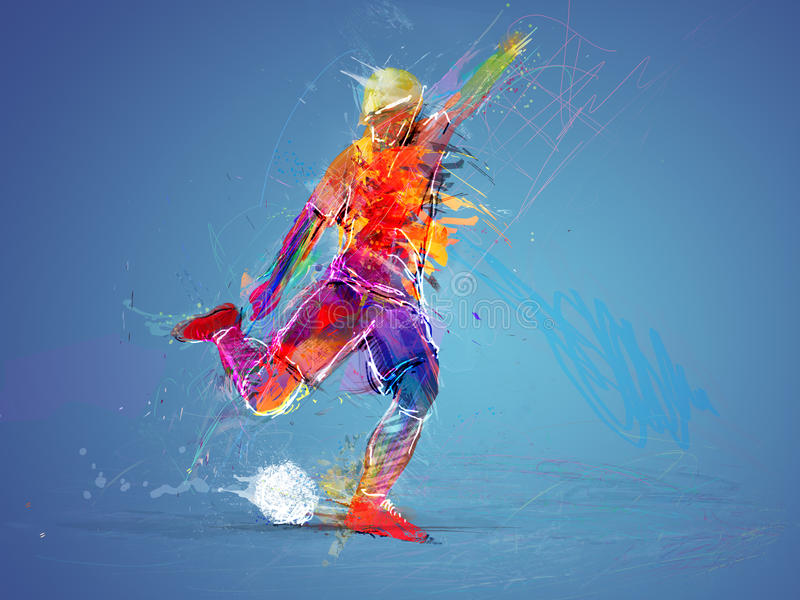 Soccer player abstract concept royalty free stock image