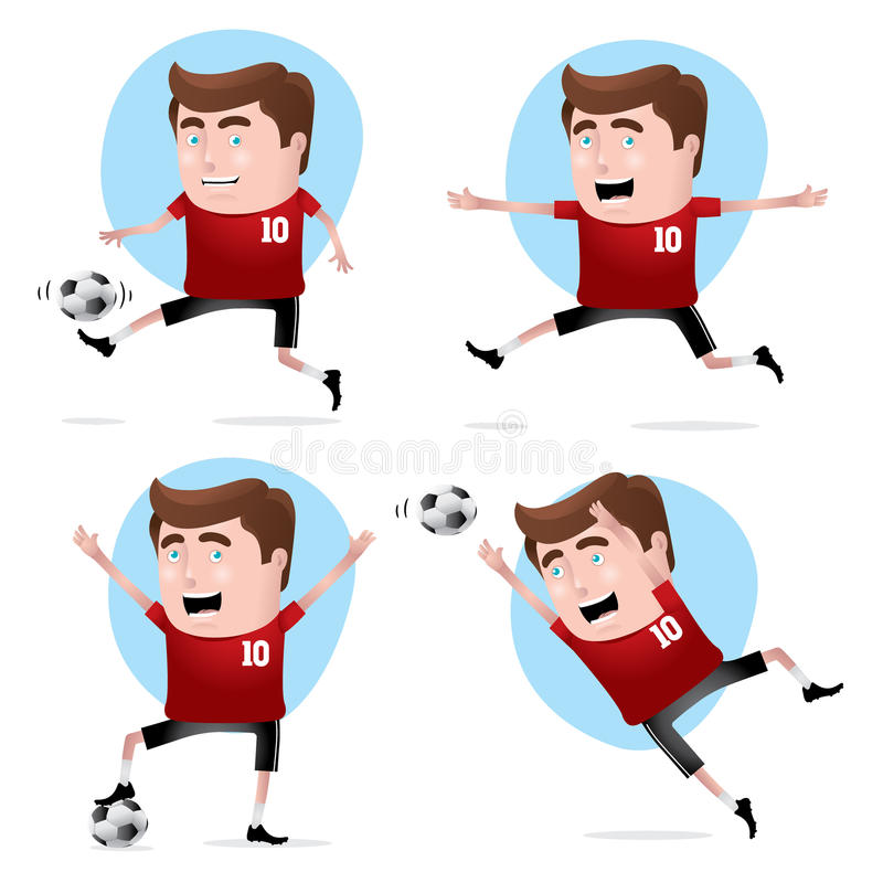 Download Soccer Player in Actions stock vector. Image of happiness - 19916439