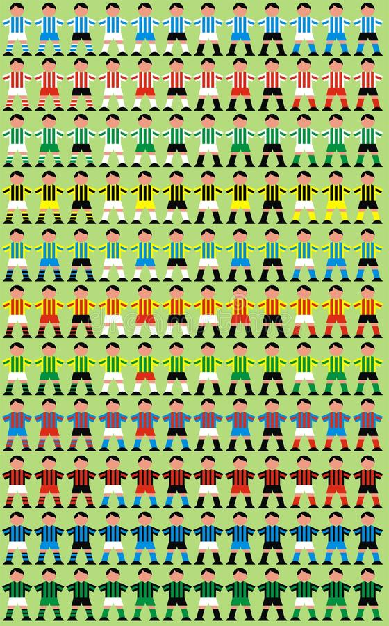 Soccer player background royalty free illustration