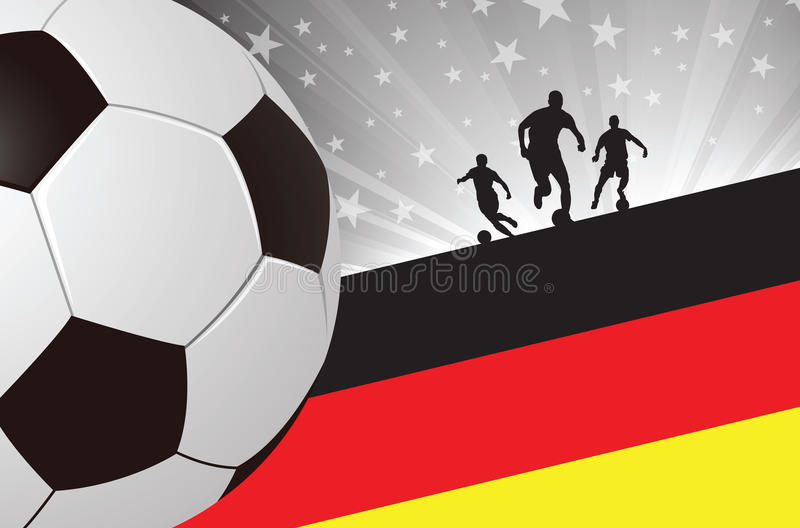 Soccer Player Background Germany royalty free stock photos