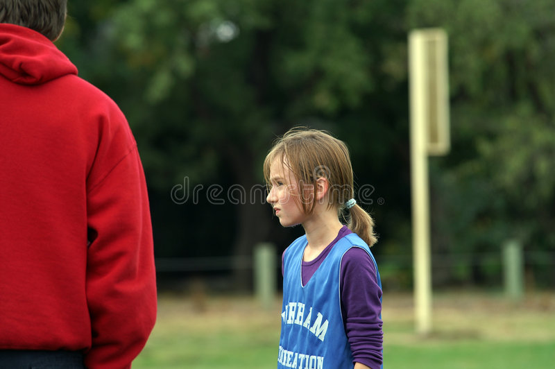 Soccer Player And Coach stock photos