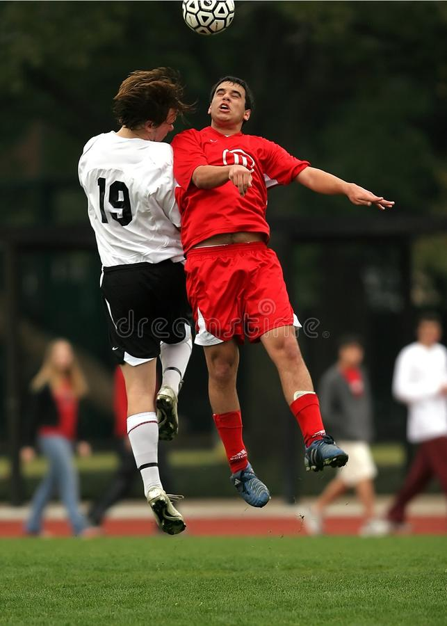 2 Soccer Player Had a Collision stock photography