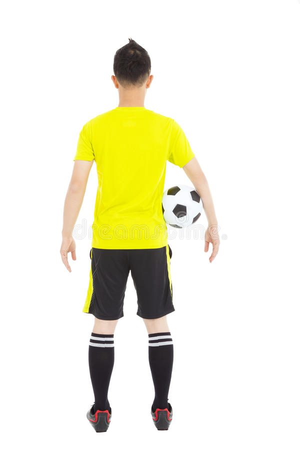 Download Soccer Player Holding A Soccer Stock Photo - Image of peace, equipment: 39220270