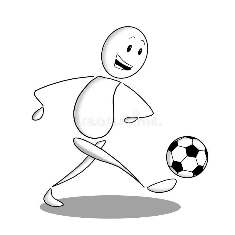 Soccer player icon stock photos
