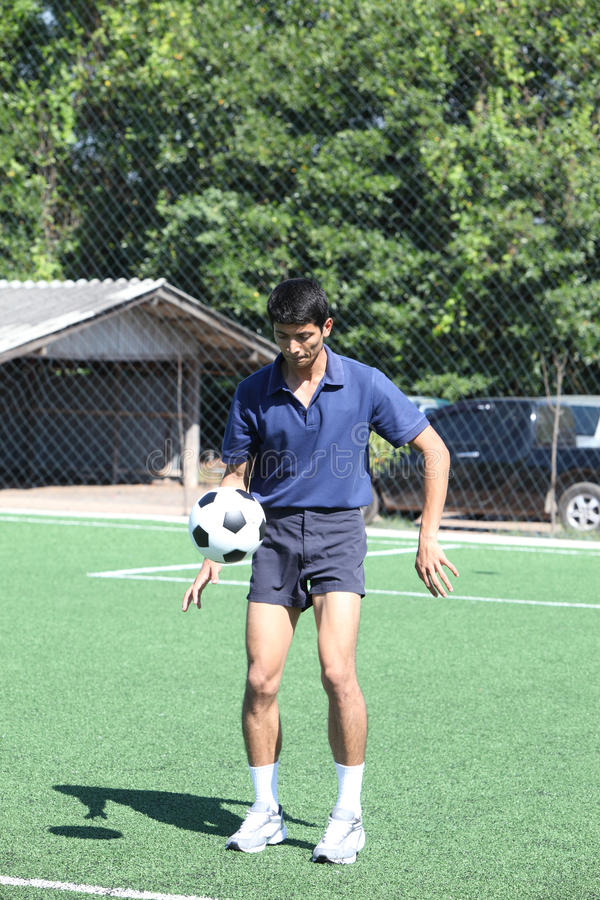 Download Soccer Player Juggle The Ball  With His Feet Stock Photo - Image of activity, action: 31959286