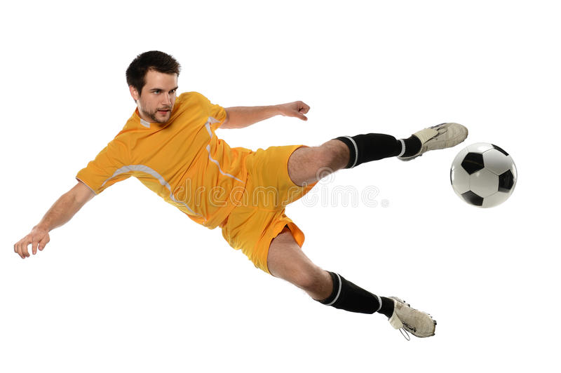 Soccer Player Kicking Ball royalty free stock image