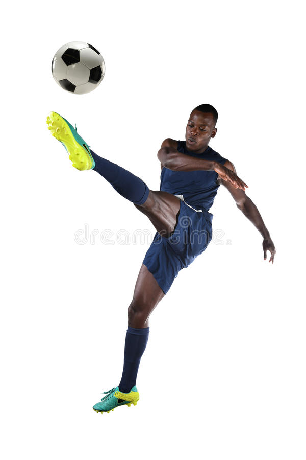Download Soccer Player Kicking Ball stock photo. Image of isolated - 91723582