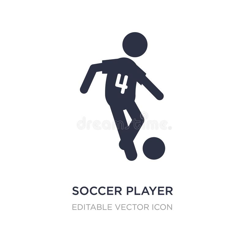 Soccer player number four icon on white background. Simple element illustration from Sports concept. Soccer player number four icon symbol design royalty free illustration