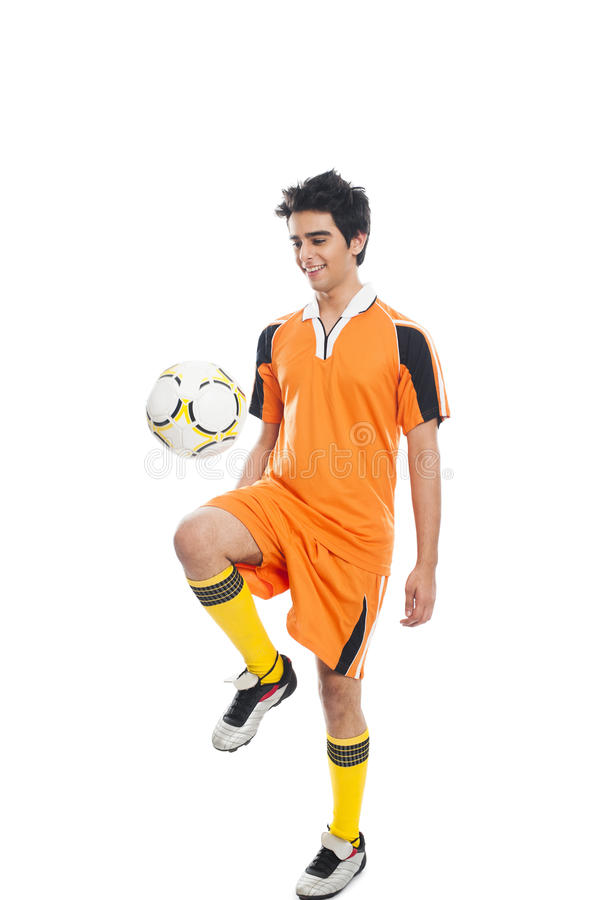Free Soccer Player Playing With A Soccer Ball Royalty Free Stock Photography - 36577987