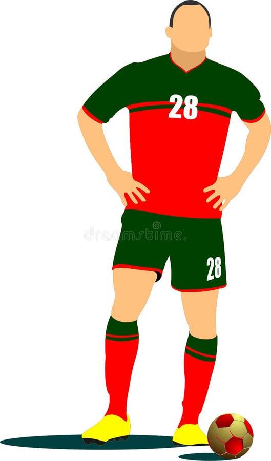 Soccer player poster. Vector illustration royalty free illustration