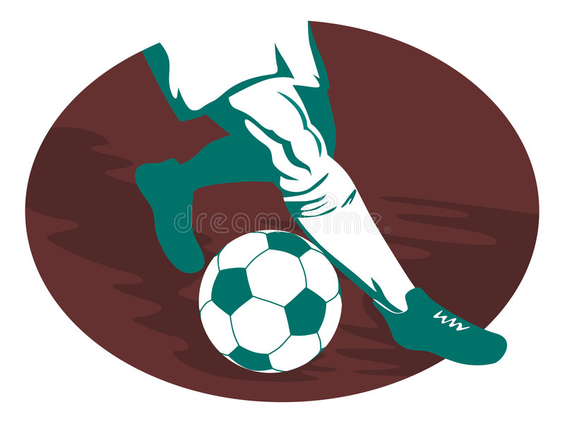 Soccer player running vector illustration