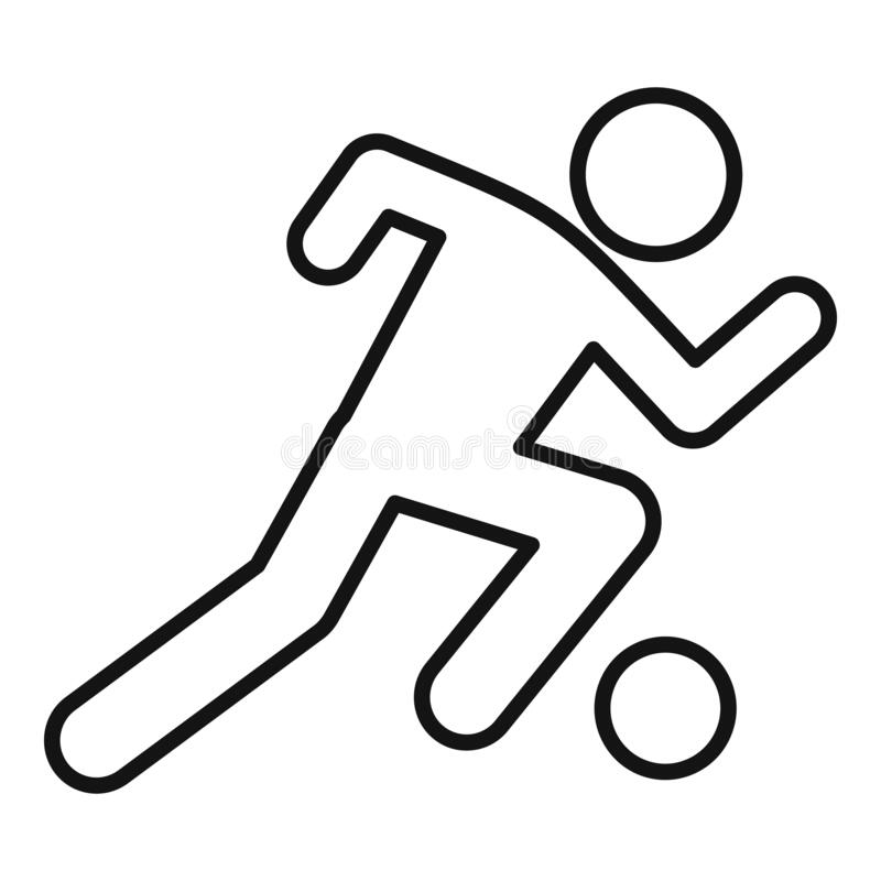 Soccer player running icon, outline style. Soccer player running icon. Outline soccer player running vector icon for web design isolated on white background vector illustration