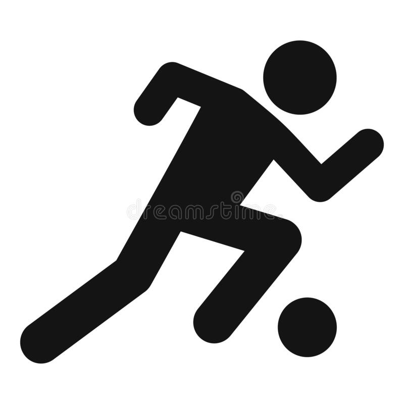 Soccer player running icon, simple style. Soccer player running icon. Simple illustration of soccer player running vector icon for web design isolated on white vector illustration