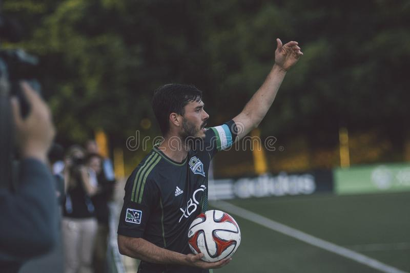 Soccer Player On Sideline Free Public Domain Cc0 Image