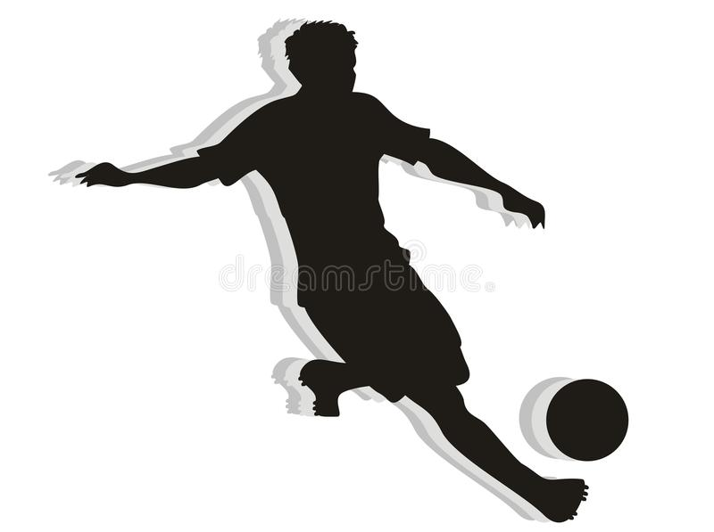 Download Soccer Player silhouette stock vector. Image of dribbling - 26895519