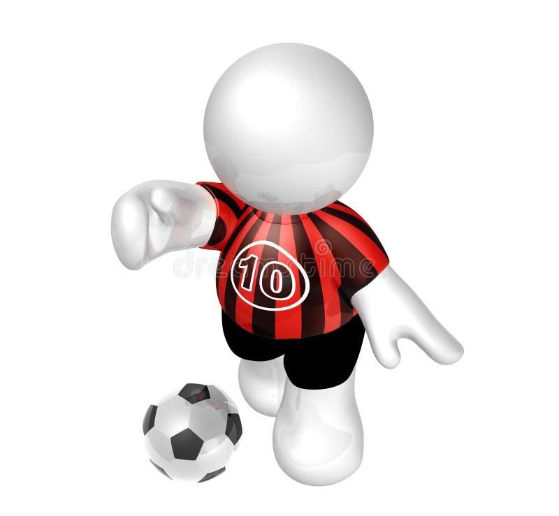 Download Soccer Player Star With Number Ten Stock Illustration - Illustration: 8409293