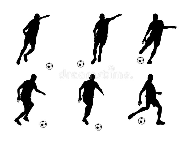 Download Soccer player (vector) stock vector. Illustration of white - 7645955
