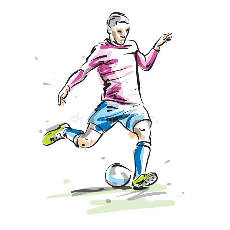Soccer player. A soccer player vector illustration vector illustration