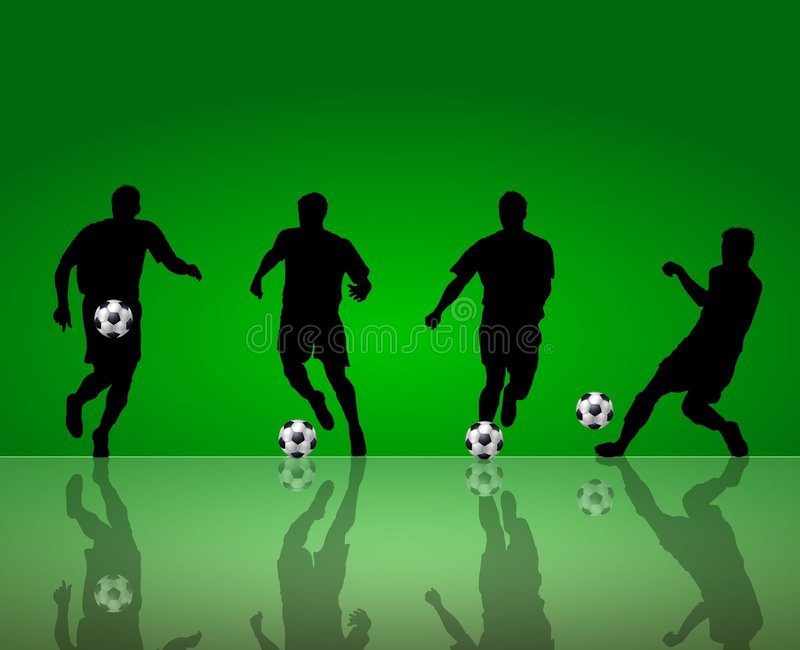 Soccer Players Background Stock Photo