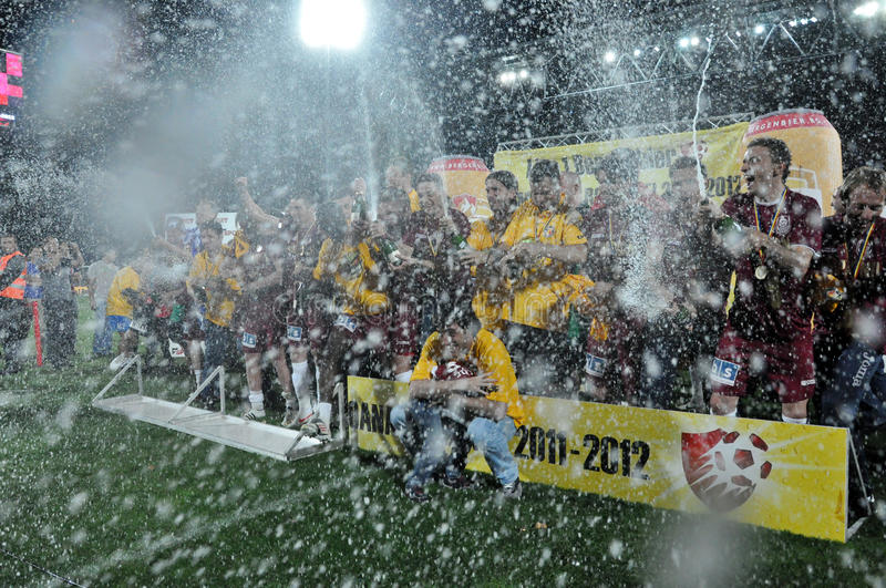 Download Soccer Players Celebrating With Champagne Editorial Stock Photo - Image: 24925703