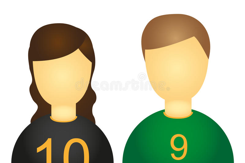Download Soccer Players icons stock vector. Image of person, hair - 21653824