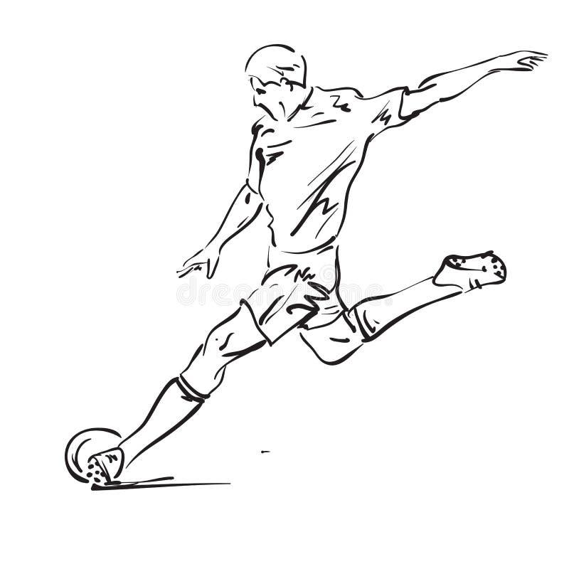 Soccer players. Soccer player vector illustration series stock illustration