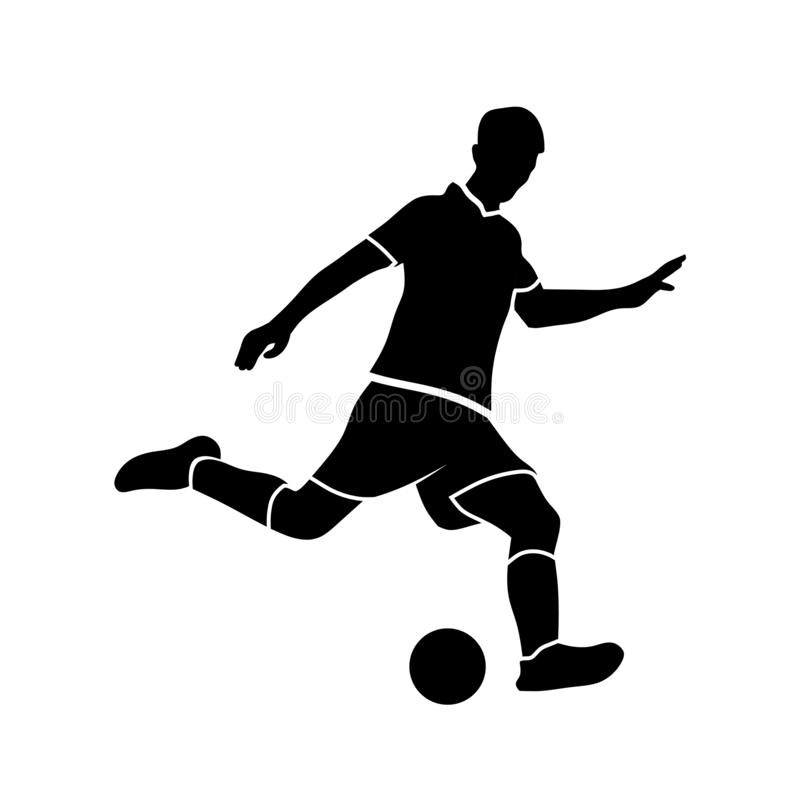 Soccer players silhouettes vector vector illustration