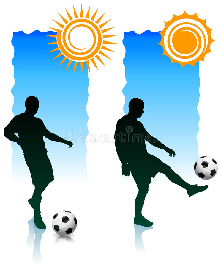 Download Soccer Players With Sunlight Banners Royalty Free Stock Photos - Image: 14271408
