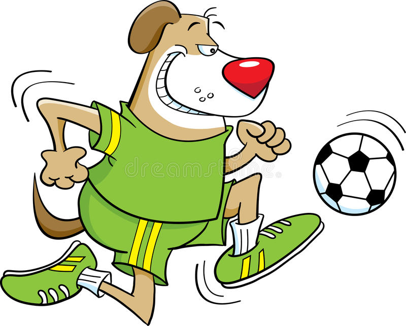 Download Soccer Playing Dog Royalty Free Stock Photos - Image: 26243288