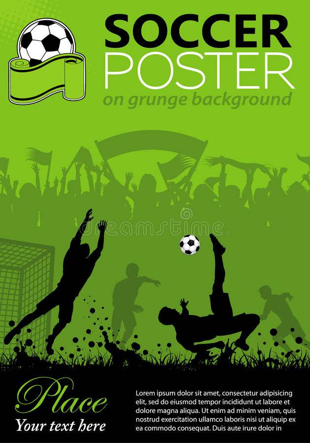 Soccer Poster royalty free illustration