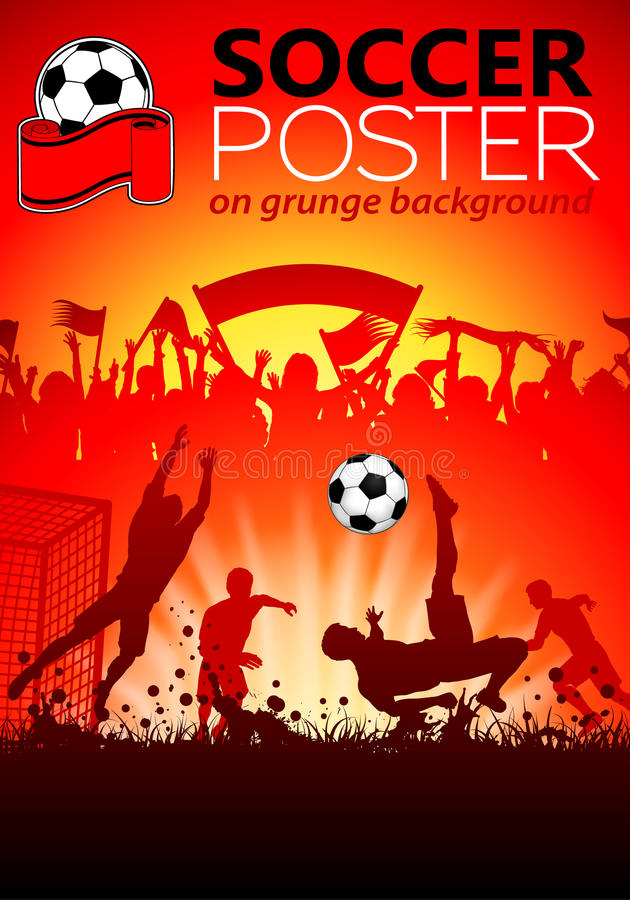 Download Soccer Poster stock vector. Image of active, flyer, invitation - 27332287