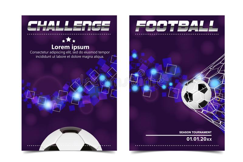 Soccer Poster Vector. Football Ball. Design For Sport Bar Promotion. Tournament, Championship Flyer Design. Football stock illustration