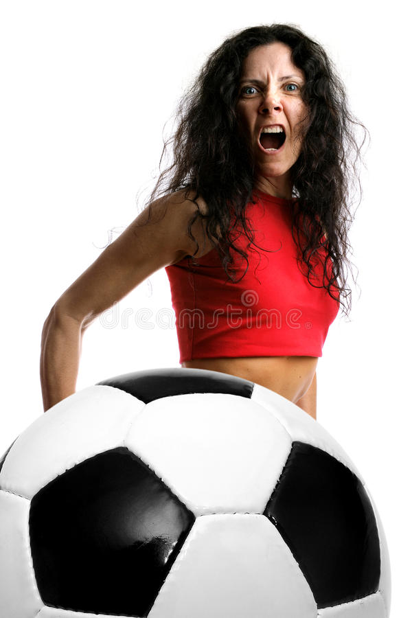 Soccer power royalty free stock photo